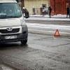 В Мурманске маршрутный автобус вылетел в кювет
