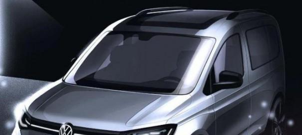 Опубликованы снимки нового компактного фургона Volkswagen Caddy