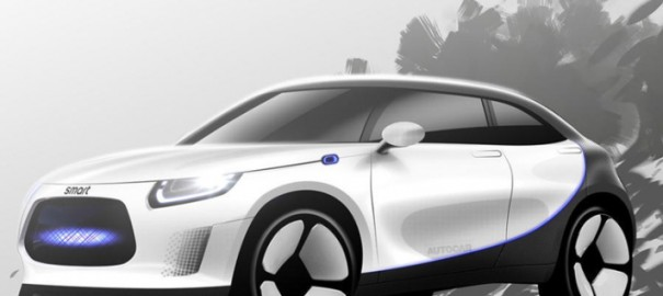 Geely и Mercedes-Benz представят концепт электрокросса Smart