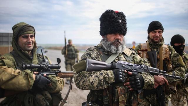 В городе славянск украинские силовики