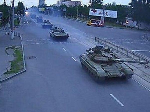 военная техника РФ в Луганске