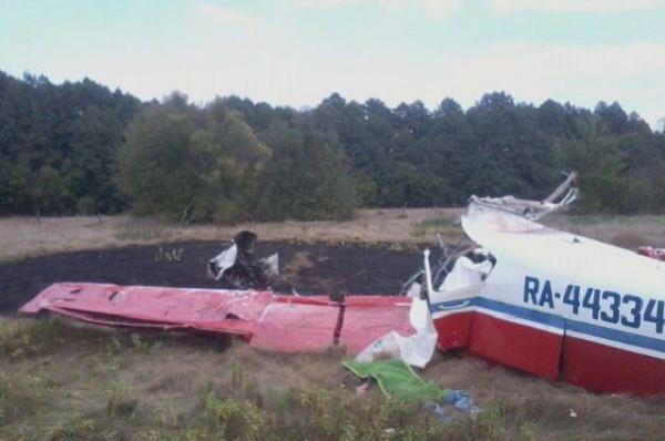 Упал самолет