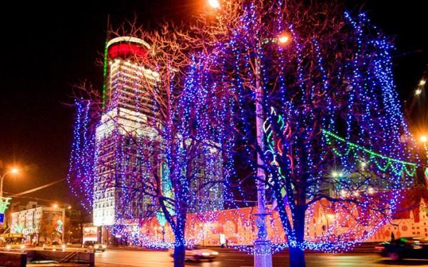 Минск, праздничная иллюминация