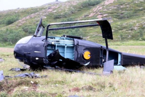 Вертолет упал