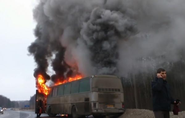 Обстрел автобус