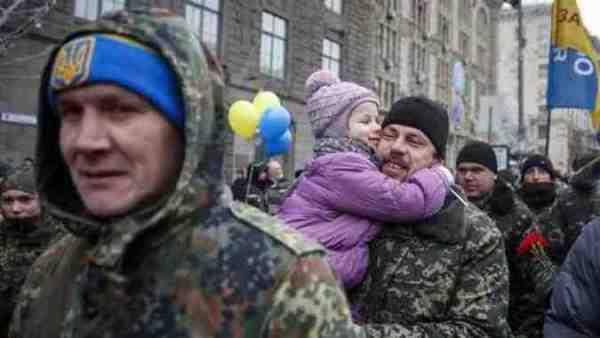 бойцы АТО в Киеве
