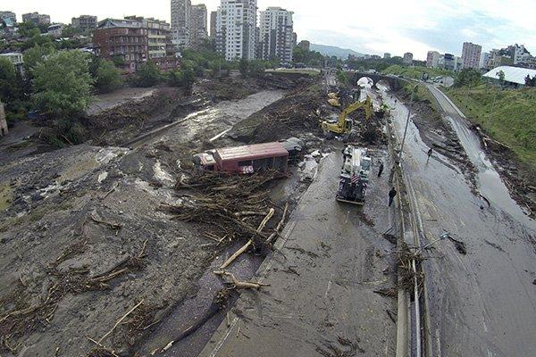 оползень в Тбилиси