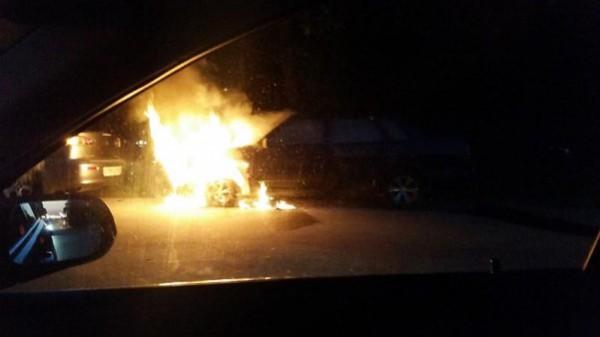пожар автомобиль