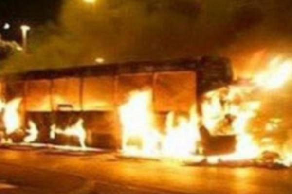 пожар автобус