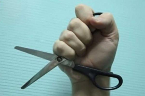 ножницы нападение