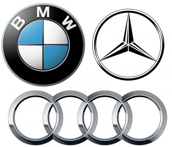 Audi, Mercedes, BMW