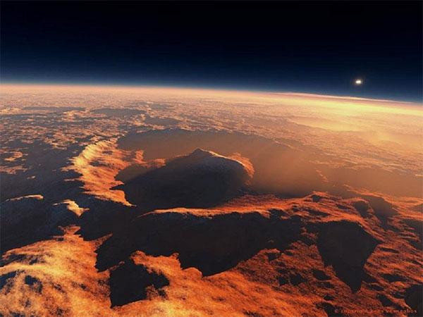 вулкан на Марсе Купол Фарсида