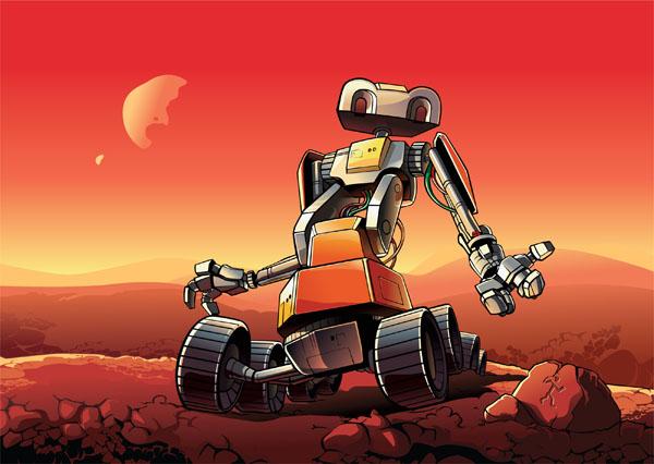 Создан робот, способный построить посадочную площадку на Луне или Марсе