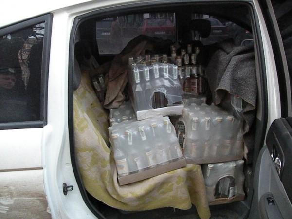 водка в машине