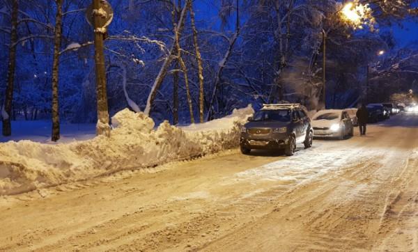 __дорога снег сугробы джип авто