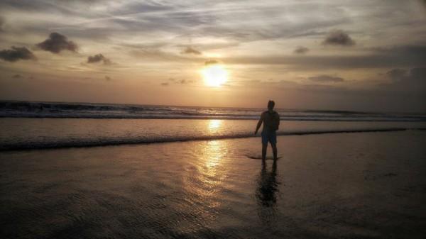 __красота, море, закат, рассвет, человек