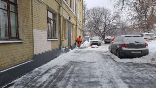 __дом зима двор авто