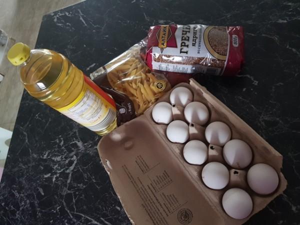 __продукты, упаковка, яйца, масло, крупа