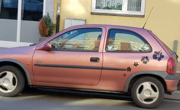 __ автомобиль розовый, машина, аэрография, тюнинг