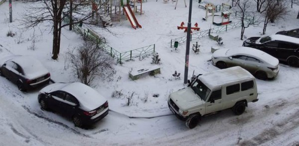 __ парковка, зима, двор, машина, автомобиль