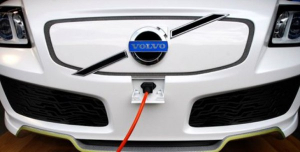 Volvo, зарядка, электрический