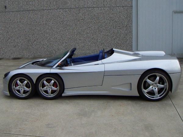 Covini 6SW, шестиколесный суперкар