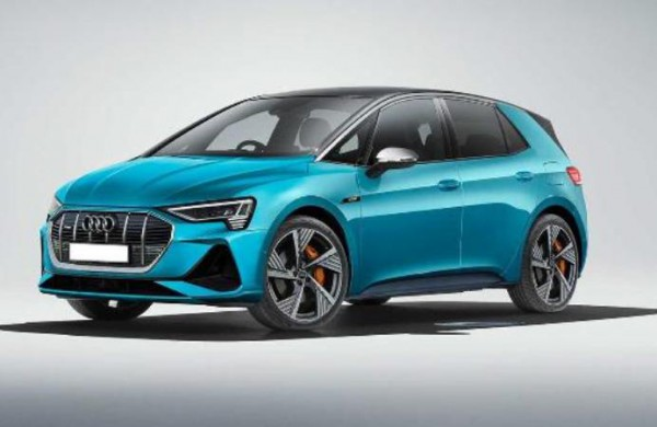 Audi E-Tron, рендер хэтчбека