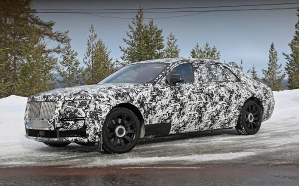 Rolls-Royce Ghost, удлиненный, тесты