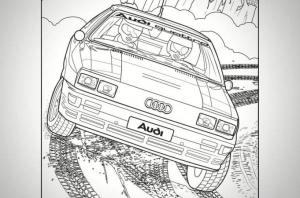 Audi, раскраска