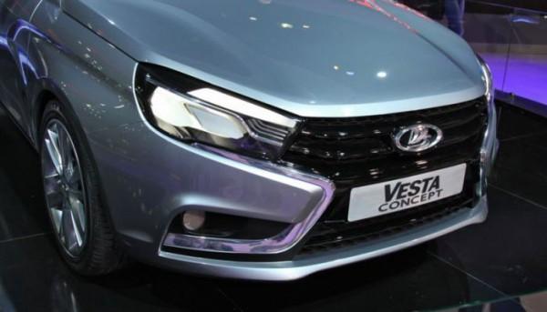 Lada Vesta FL, светодиодные фары