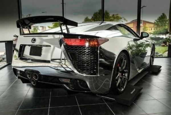 Lexus LFA, хромированный