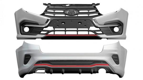 Lada Granta Drive Active, новые бамперы