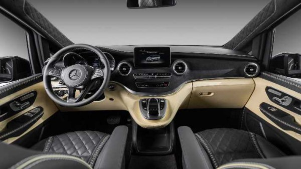 Mercedes V-Class, роскошный интерьер
