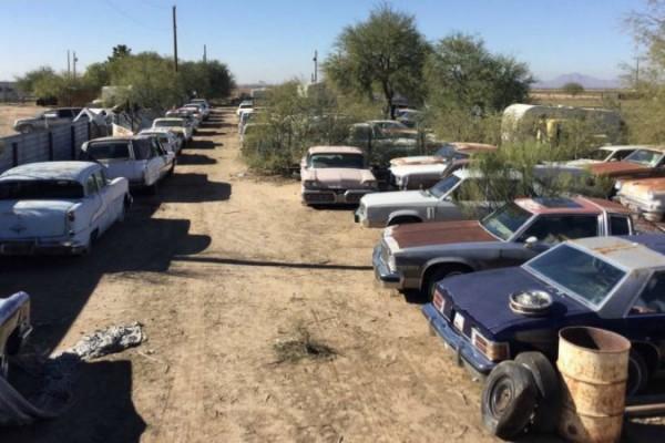 авто, коллекция, ретро, пустыня