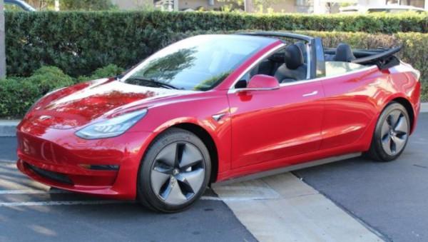 Tesla Model 3, переделка, кабриолет