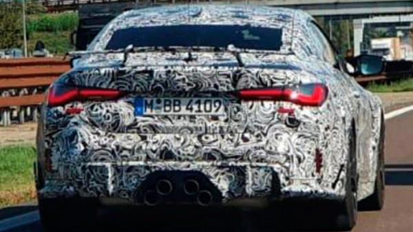 BMW M4 GTS, прототип, выхлоп