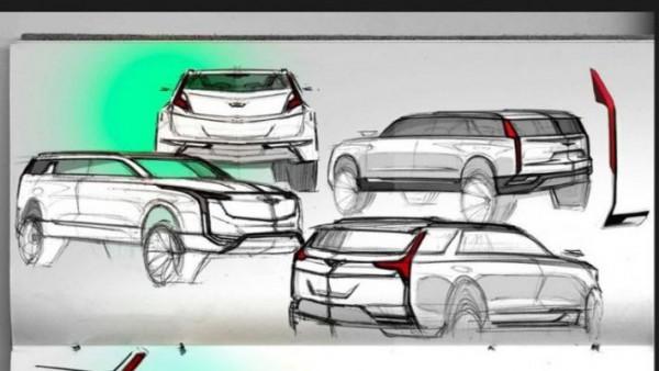 эскизы будущего SUV Cadillac