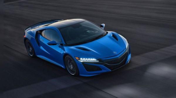 Acura NSX 2021, оттенок Long Beach Blue