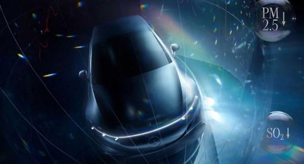 Mercedes EQS, новый электрокар, тизер