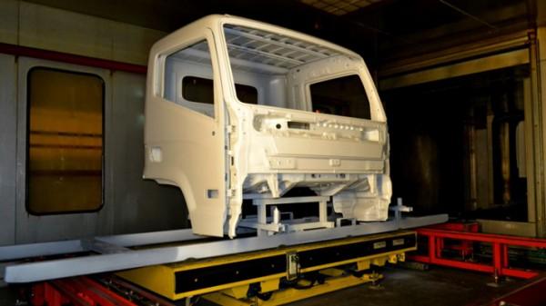 Hyundai Mighty, грузовик, кабина, производство