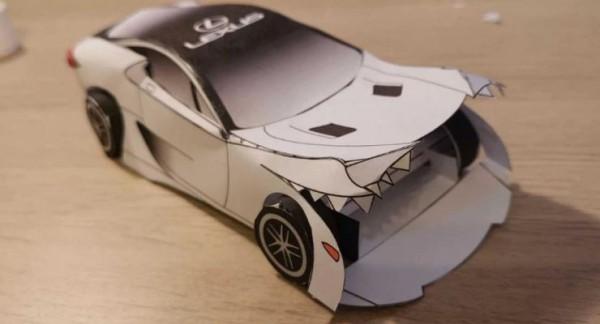 Lexus LFA, бумажный