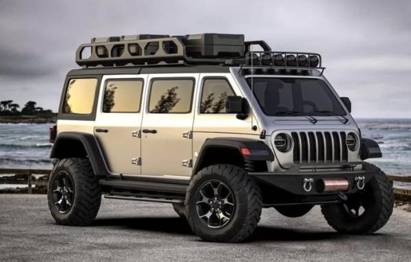 Jeep Wrangler в кузове минивэн