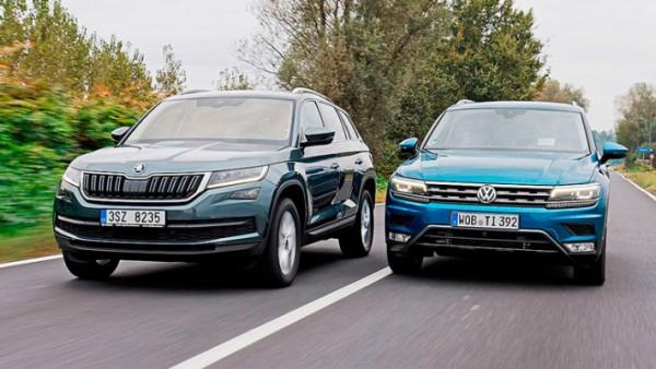 Skoda Kushaq и Volkswagen Taigun, кроссоверы