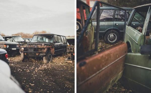 Range Rover, кладбище