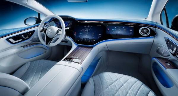 Mercedes EQS 2022 года, интерьер