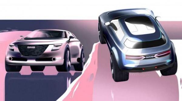 Saab, новый кросс, рендер