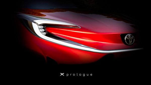 Toyota X Prologue, электрический кроссовер, тизер