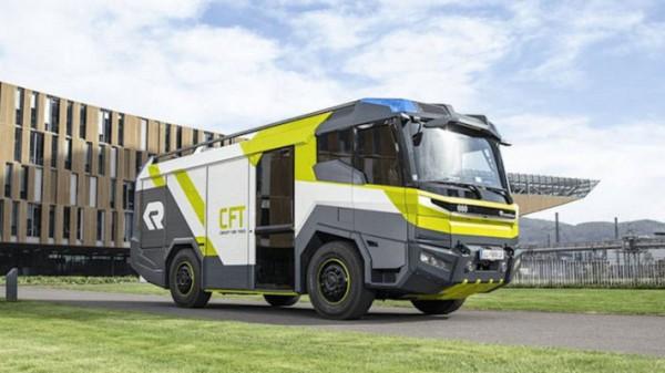 пожарная машина от Rosenbauer, электрическая