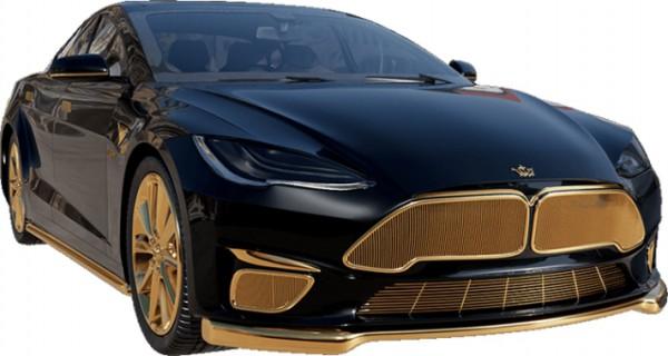 Tesla Model S, позолота