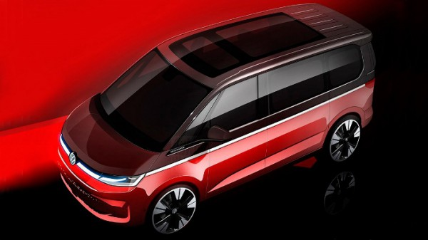 Volkswagen Multivan, новый фургон, тизер